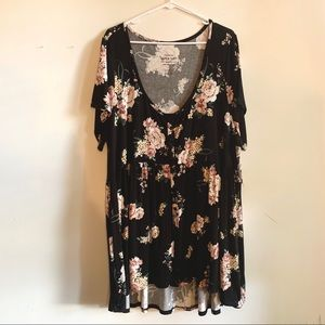 NWT Torrid Rose Floral Button Front Babydoll Top